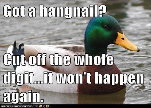 wounds,Actual Advice Mallard,hangnail,fingers