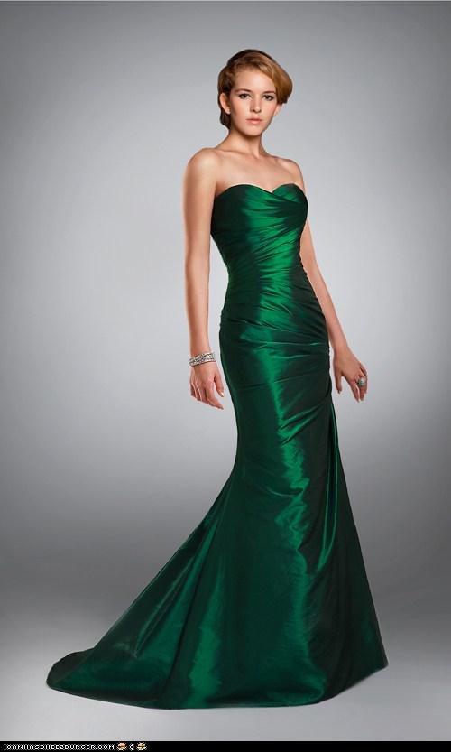 Grün Mode bodenlang Meerjungfrau