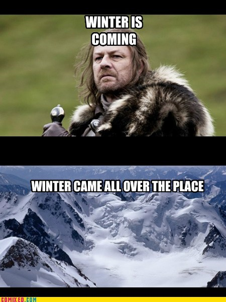Winter Is Coming,snow,Game of Thrones,TV