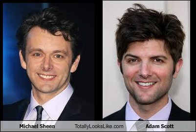 Michael Sheen Totally Looks Like Adam Scott