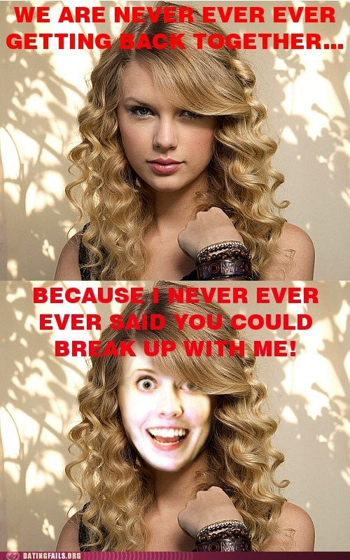 taylor swift,overly attached girlfriend,never ever ever