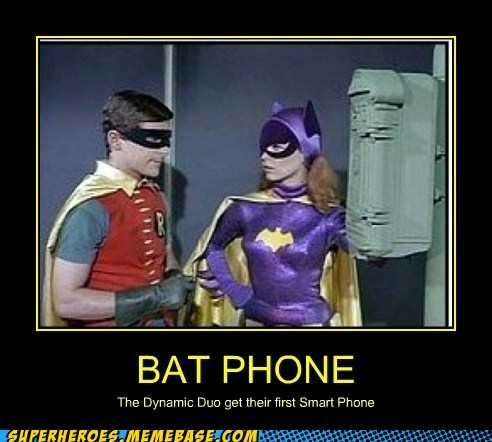 Adam West,robin,phone,batgirl,batman