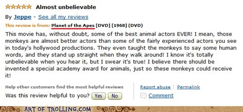 Keep Your Paws Off Our Academy Awards, You Damn Dirty Apes!