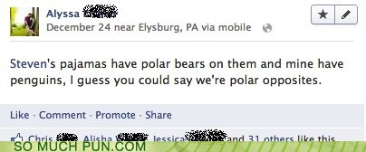 south pole,polar,literalism,pajamas,north pole,opposites,double meaning