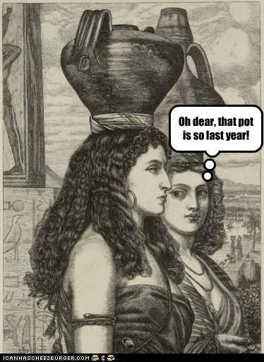 fashion,head,jugs,pots,women