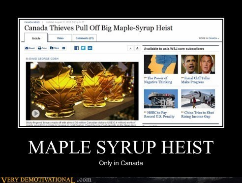 MAPLE SYRUP HEIST