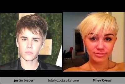 justin bieber Totally Looks Like Miley Cyrus