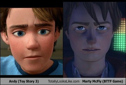 Andy (Toy Story 3) Totally Looks Like Marty McFly (BTTF Game)