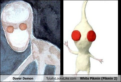 Dover Demon Totally Looks Like White Pikmin (Pikmin 2)