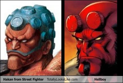 Hakan from Street Fighter Totally Looks Like Hellboy