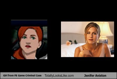 Girl from FB Game Criminal Case Totally Looks Like Jennifer Aniston