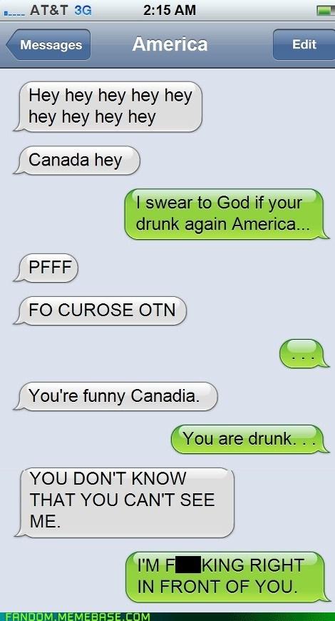 Canada,hetalia,america,sms