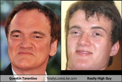 Quentin Tarantino Totally Looks Like Really High Guy