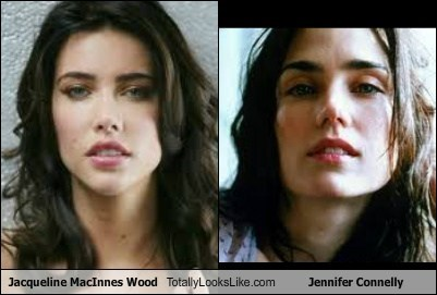 Jacqueline MacInnes Wood Totally Looks Like Jennifer Connelly