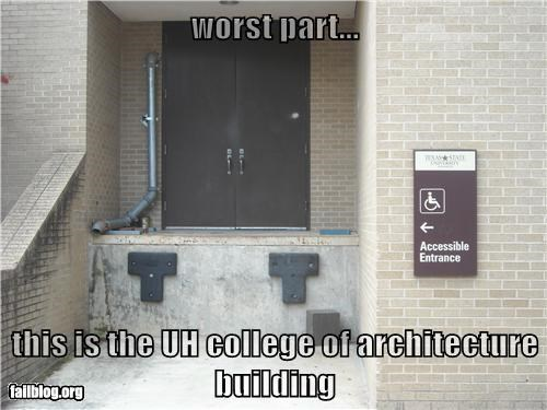 worst part...   this is the UH college of architecture building