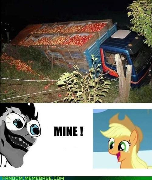 applejack,crossover,Bronies,my little pony,death note,ryuk,apples