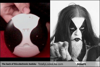 The Back of This Electronic Sudoku Totally Looks Like Abbath