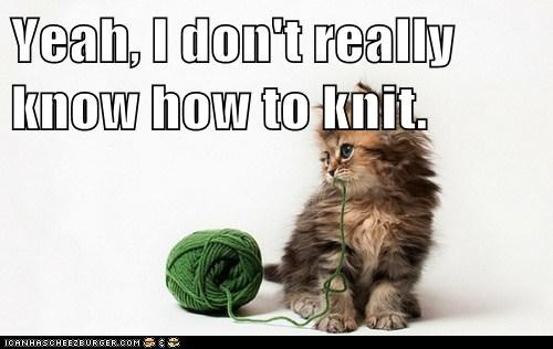 Yeah, I don't really know how to knit.