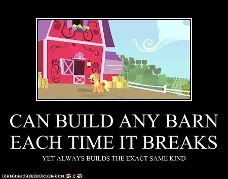CAN BUILD ANY BARN EACH TIME IT BREAKS