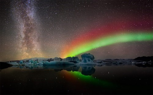 Iceland,snow,winter,aurora