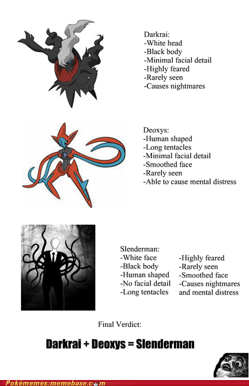 Is Slender Man a Pokémon?