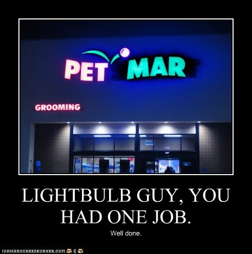 LIGHTBULB GUY, YOU HAD ONE JOB.