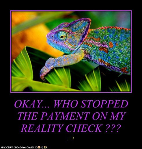 OKAY... WHO STOPPED THE PAYMENT ON MY REALITY CHECK ???