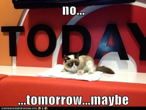 no...  ...tomorrow...maybe