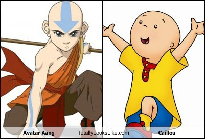 Avatar Aang Totally Looks Like Caillou