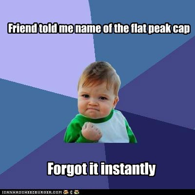 Friend told me name of the flat peak cap