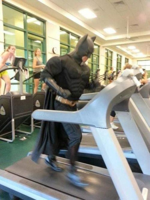 treadmill,costume,batman