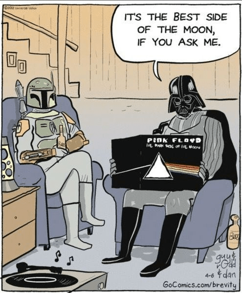 star wars,Dark Side of the Moon,comics,pink floyd,darth vader,boba fett