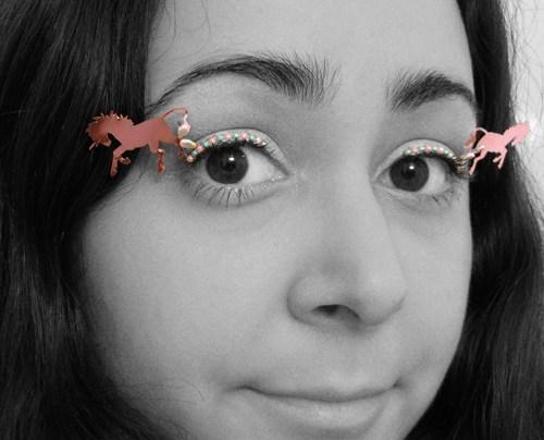 makeup,fashion,unicorns,paper,style,eyelashes,if style could kill