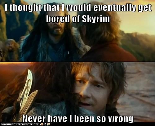 I thought that I would eventually get bored of Skyrim  Never have I been so wrong