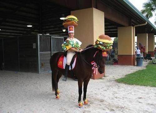 costume,McDonald's,horse