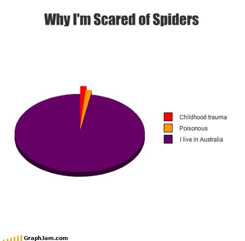 spiders,australia,down under,Pie Chart