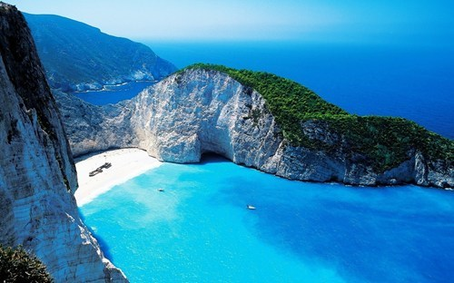 greece,beach,cove,landscape