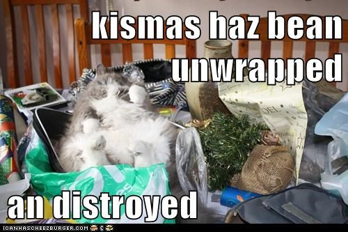 kismas haz bean unwrapped  an distroyed