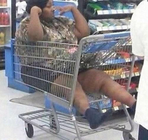 supermarket,lazy,shopping cart