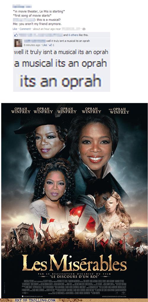 Oprah Winfrey,Movie,photoshop,facebook,musical,Les Misérables