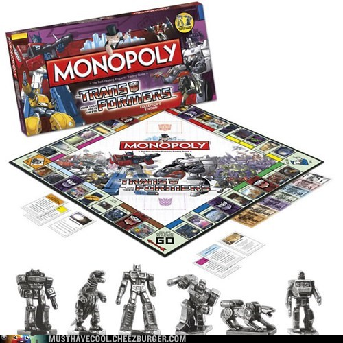 transformers,game,monopoly,robots,themed