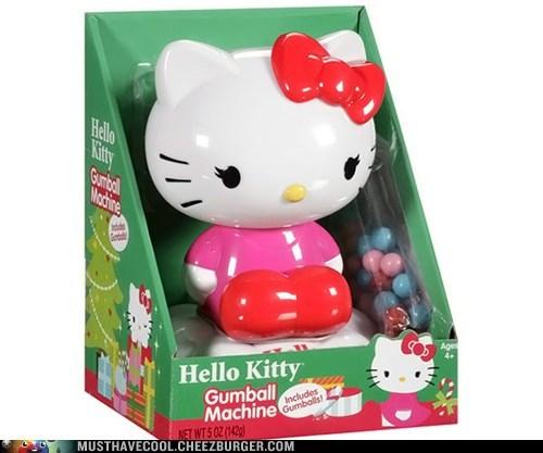 candy,hello kitty,gumballs,gumball machine