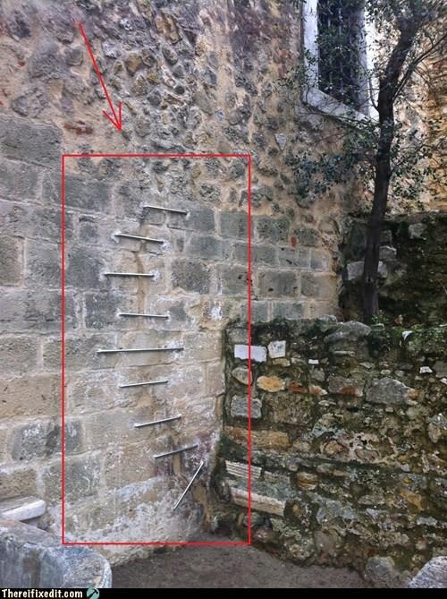 bricks,torn apart,mortar,wall