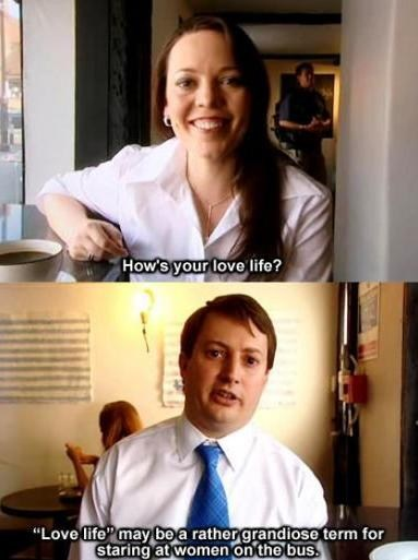 Staring,carried away,mitchell and webb,love life