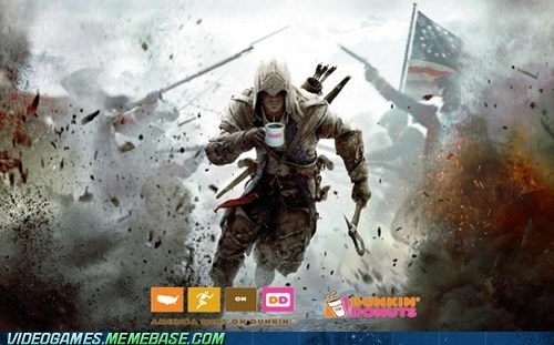 freedom,assassins creed,dunkin donuts