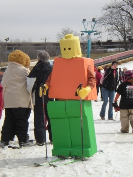 Saw This Blockhead on the Slopes