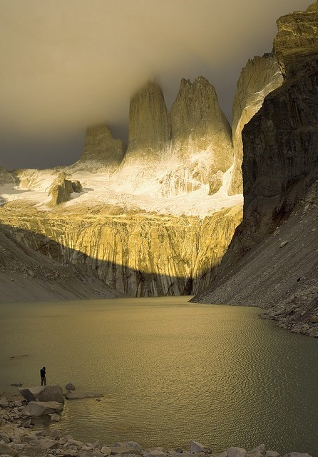 Light and Shadow in Torres Del Paine National Park, Chile