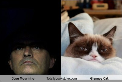 Jose Mourinho Totally Looks Like Grumpy Cat