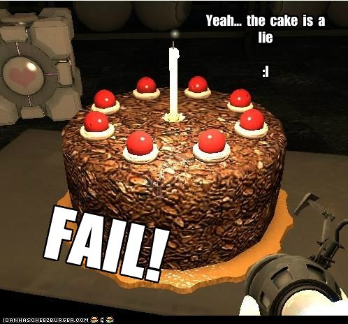 The cake is a lie?