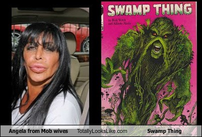 Angela from Mob Wives Totally Looks Like Swamp Thing
